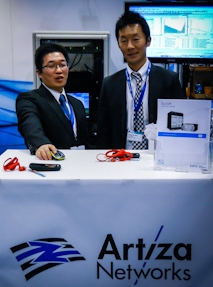 Artiza Networks Team at EXFO Booth