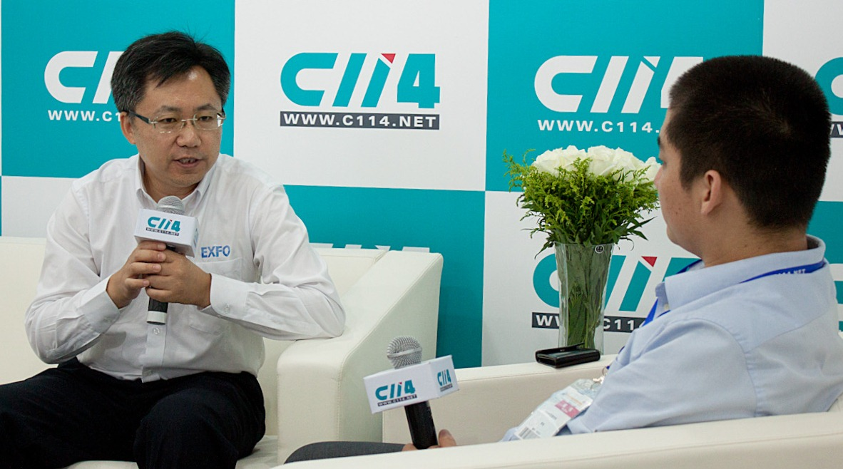 Xun Xuerui being interviewed by C114